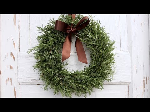 DIY Rosemary Wreath // Garden Answer