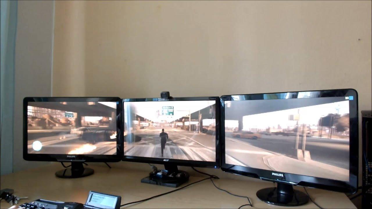 Evga Gtx 660 3gb Sc Triple Screen Gta4 Lets Play Youtube
