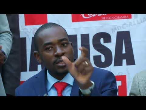 MDC Alliance's Nelson Chamisa declares himself winner of Zimbabwe elections