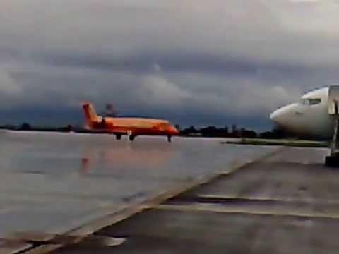 Precisionair's 737 departing at JNIA 2