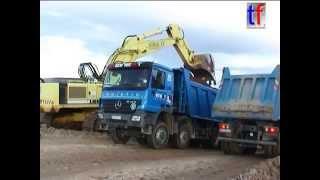 big blue mercedes benz actros mp2 dump truck kipper fa reinert germany 18 10 2004