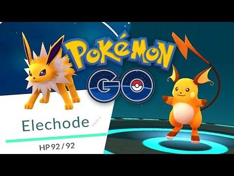 Pokemon GO: Evolving Pikachu into Raichu and ELECHODE EASTER EGG!