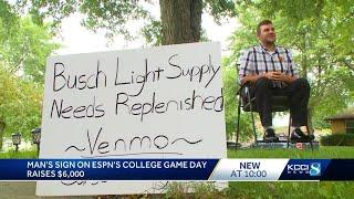 Beer Money: ISU fan's Gameday sign brings in big cash for charity