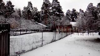 В апреле выпал снег! Смотрите как красиво!