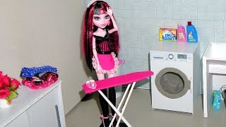 How To Make An Ironing Board & Clothes Iron For Dolls (monster High, Eah, Barbie, Etc)