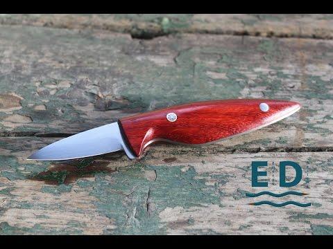 A handmade oyster knife
