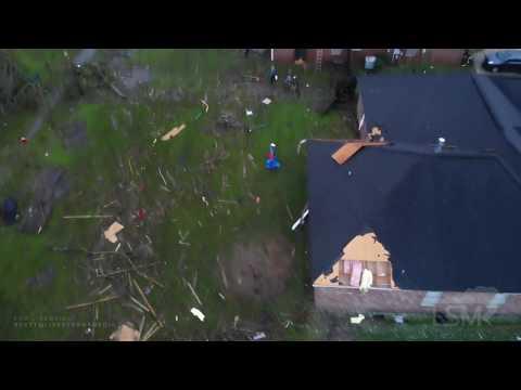 10-25-19 Mobile, AL TS Olga Tornado Damage Ground And Aerials Significant Home Damage Debris Strewn