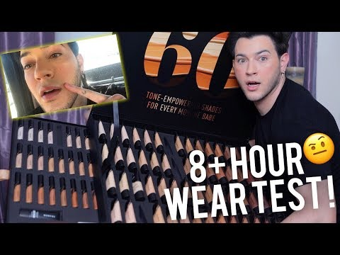 NEW MORPHE FOUNDATION AND CONCEALER 8 HOUR WEAR TEST/ FIRST IMPRESSIONS!