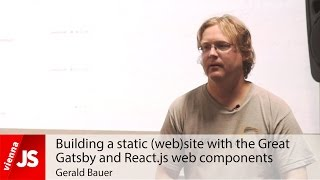 Building a static (web)site with the Great Gatsby and React.js web components