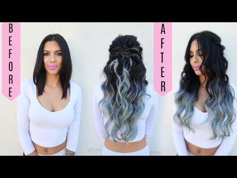 HOW TO CUT & BLEND HAIR EXTENSIONS!