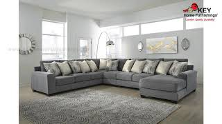 Ashley Castano 4 Piece Sectional With Chaise | KEY Home