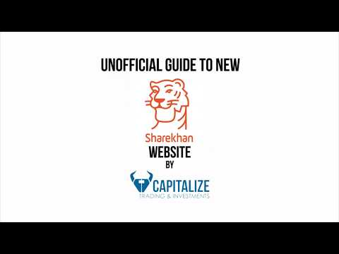 New Sharekhan Website Unofficial Guide( Day -1)