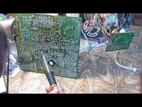 видео: ТВ томсон chassis etc009 сам выключается