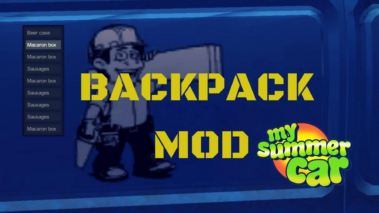 Backpack - very useful - My Summer Car #21 (Mod)