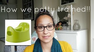 HOW WE POTTY TRAINED OUR TODDLER! MUM SOS