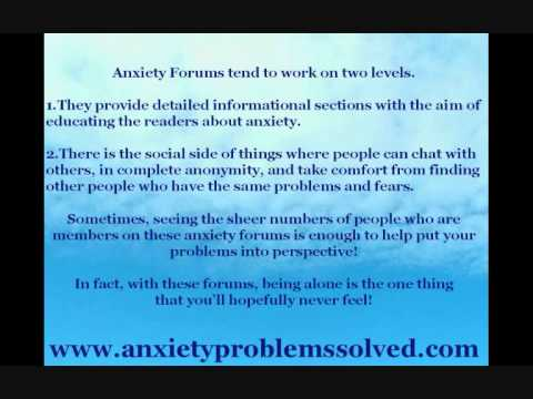 Why Anxiety Forums May Be Just What You Need.wmv