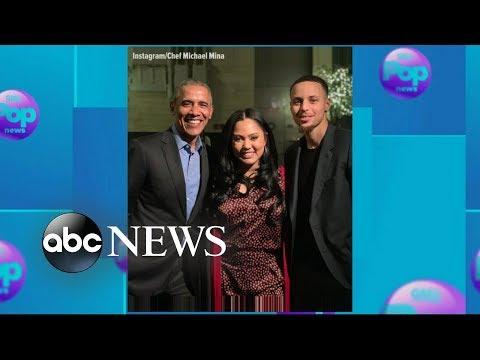 Barack Obama eats at Ayesha Currys restaurant on Presidents Day l GMA