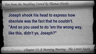 Chapter 15 - Far from the Madding Crowd by Thomas Hardy - A Morning Meeting - The Letter Again