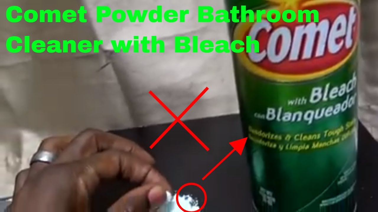 How To Use Comet Powder Bathroom Cleaner With Bleach Review Youtube