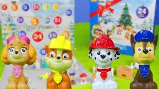 PAW PATROL deutsch: Adventskalender Unboxing mit Chase, Marshall, Rubble, Zuma & Skye