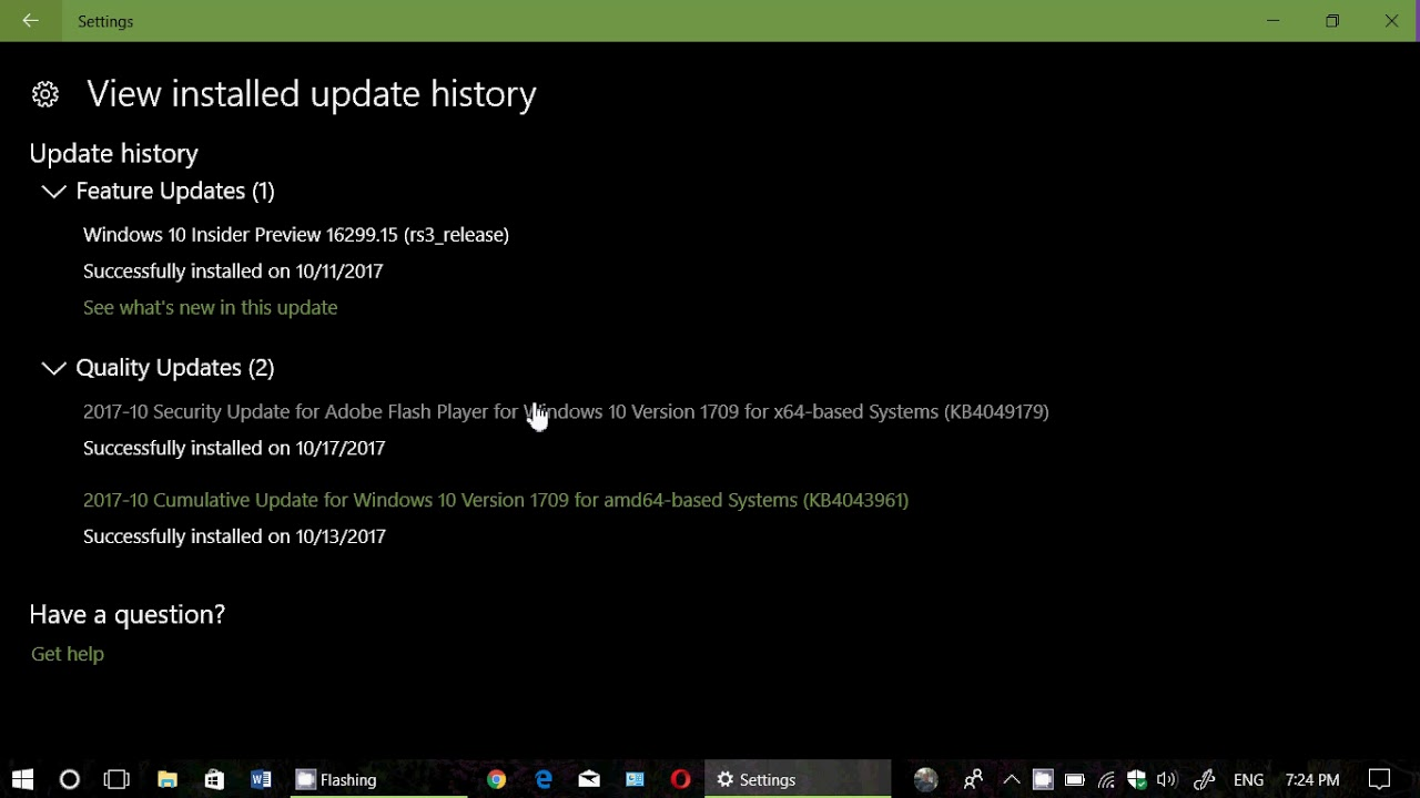 flash player update for windows 10