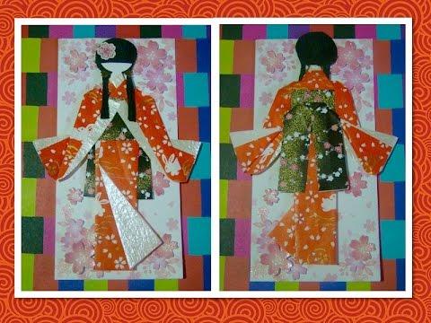 Origami Maniacs 201: Beautiful Japanese Doll Bookmark