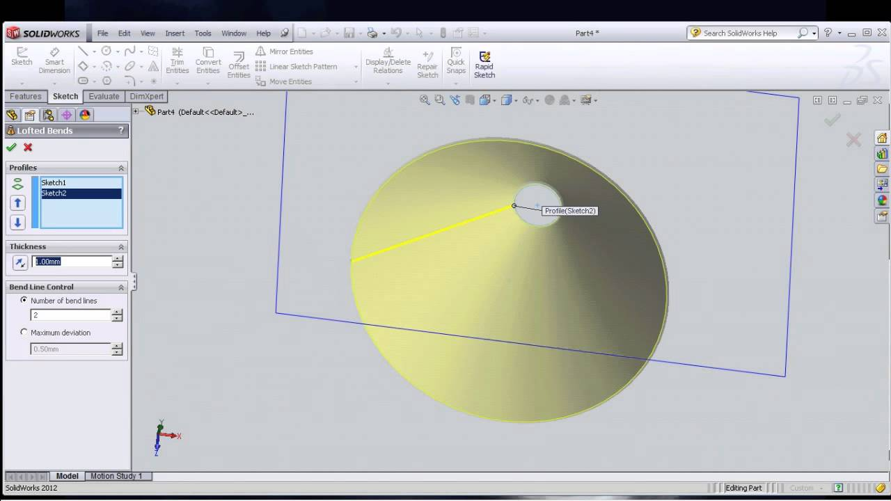 How To Unfold An Frustum Cone Solidwork Youtube