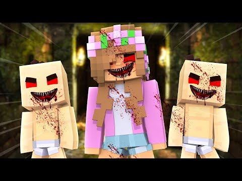 LITTLE KELLY.EXE AND HER EVIL BABIES! Minecraft Custom MiniGame