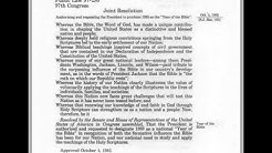 """God & Government - Public Law 97-280 97th Congress - 1983 """"Year of the Bible"""""""