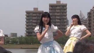 信濃川感謝祭2016。 やすらぎ堤、川まつり。 11:30~のステージです。