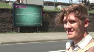"""2012-06-08 Die """"Muslime für Frieden"""" Plakat-Aktion in Koblenz"""