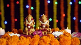 Temple of Indian gods Laxmi and Ganesh for Diwali - the festival of lights