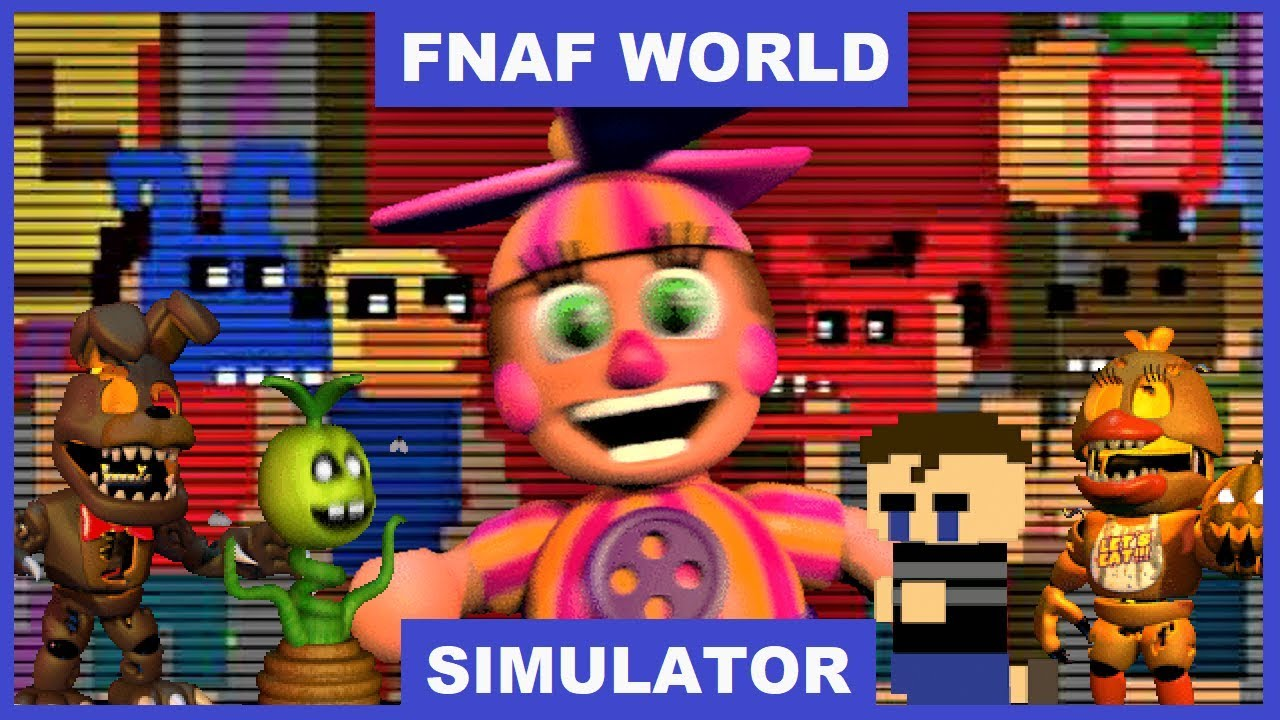 TRAVELING BACK IN TIME | FNAF World Simulator #3