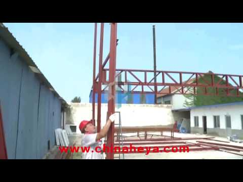 2 Storey K type Prefab House Installation Video