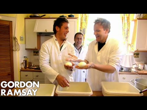 Gordon Ramsay Makes Scotland's First Ever Buffalo Mozzarella