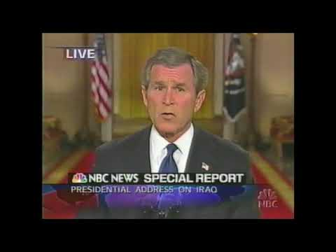 George W. Bush Address to the Nation on Iraq, March 17, 2003