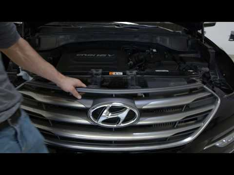 How To Install  Remove Front Grill Hyundai Santa fe 2016