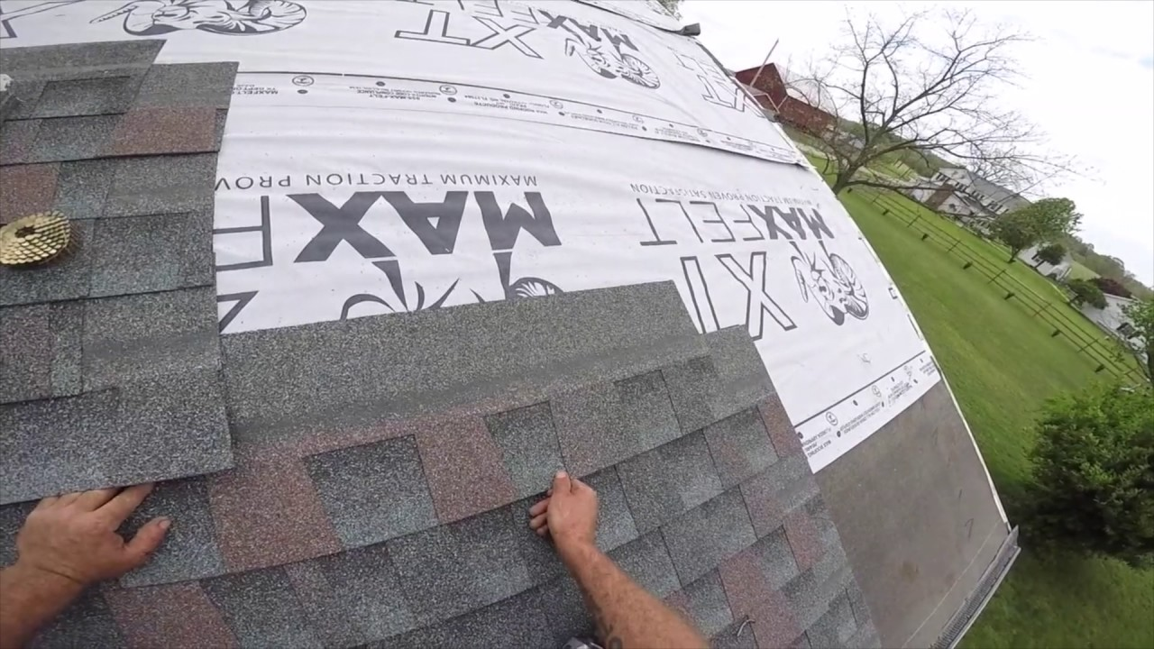 Architectural Shingle Install Youtube