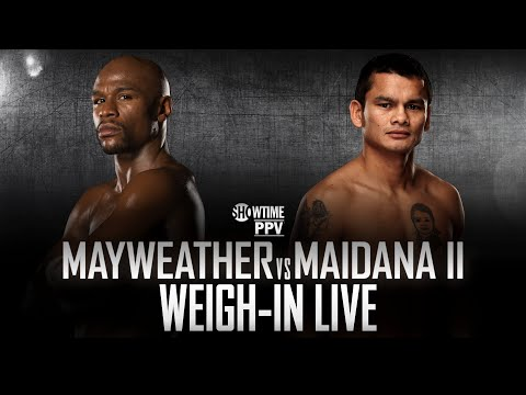 Weigh-In Live: Mayweather vs. Maidana 2 – SHOWTIME Boxing