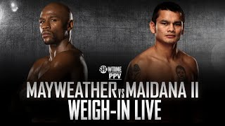 Weigh-In Live: Mayweather vs. Maidana 2 - SHOWTIME Boxing