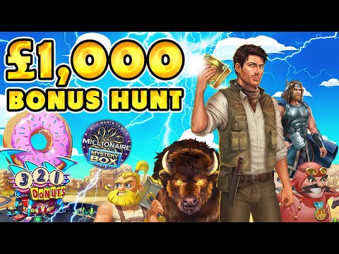BOOK OF DEAD, MILLIONAIRE, DONUTS, BUFFALO RISING BONUS HUNT !!!