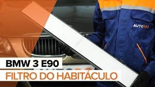 Como substituir Filtro de ar do habitáculo BMW 3 (E90) - vídeo guia