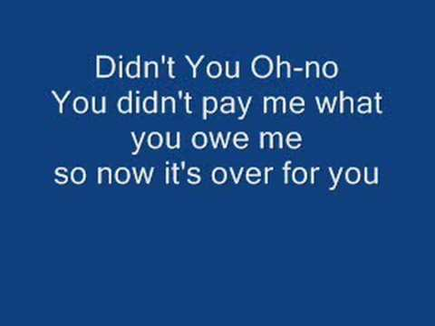 Oh No You Didn't (Full Song with Lyrics)