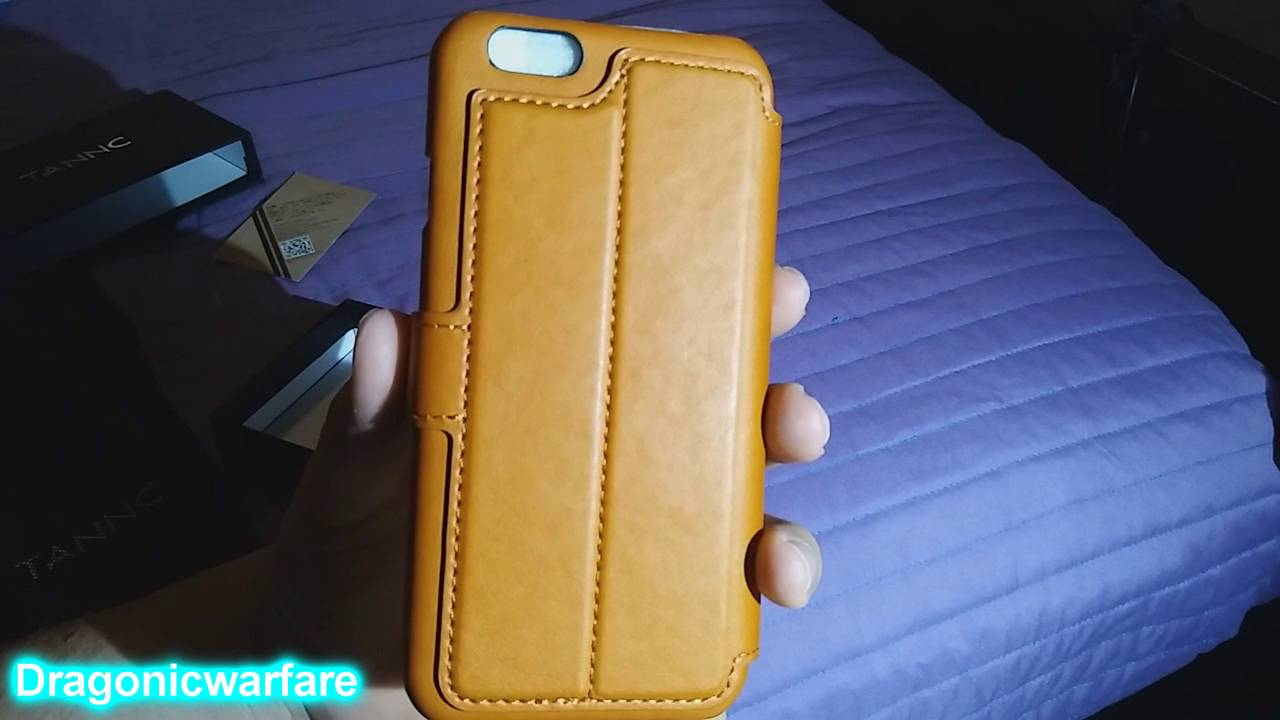 reputable site e88ed 53aa6 Tannc leather light brown wallet luxury case review (HD)