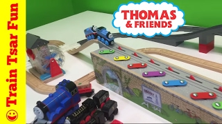 Thomas Wooden Railway MUSICAL MELODY TRACK Train  Set with LEGO DUPLO Crashes!