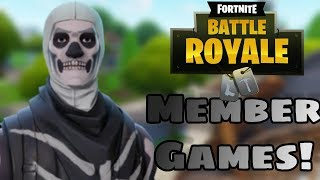 PLAYING WITH MEMBERS / FORTNITE LIVE / XBOX ONE / STREAM SNIPE / !GIVEAWAY /