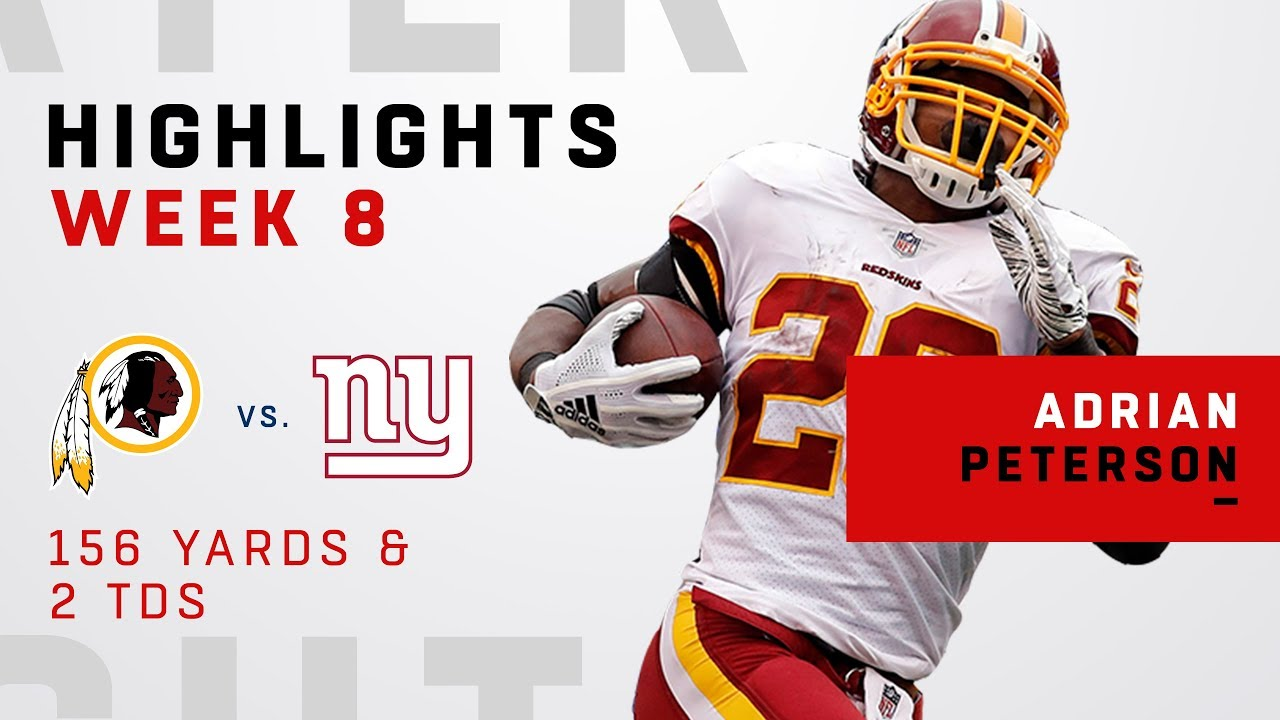 new styles d3775 7ffd0 Adrian Peterson's Huge Game w/ 156 Yards & 2 TDs!