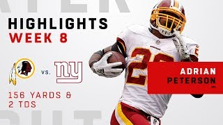 Adrian Peterson's Huge Game w/ 156 Yards & 2 TDs!