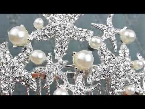 Rhinestone Starfish Hair Comb From Hair Comes The Bride