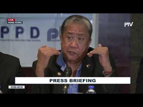 Press briefing sa Hong Kong